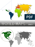 World Maps PowerPoint Template by StratPro