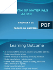 JJ310 STRENGTH OF MATERIAL Chapter 1(b)Forces on Material
