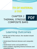 JJ310 STRENGTH OF MATERIAL Chapter 2 Thermal Stresses and Composite Bars