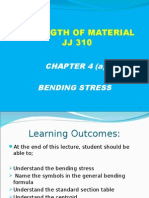 JJ310 STRENGTH OF MATERIAL Chapter 4(a) Bending Stress