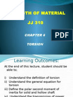 JJ310 STRENGTH OF MATERIAL Chapter 6 Torsion