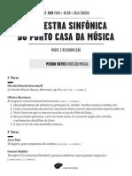 20140412 | Programa de Sala Orquestra Sinfónica do Porto Casa da Música | CELEBRAÇÃO ESPIRITUAL