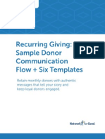 Recurring Giving Sample Donor Comm Flow and Templates