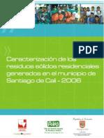 Caracterizacion Residuos Solidos Residenciales en Santiago Cali
