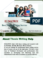 Thesis Writing Service