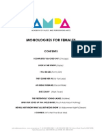 Music Theatre Monologues - FEMALE