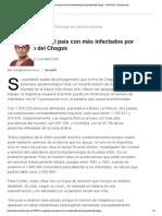 -- La Argentina es el país con más infectados por el parásito del Chagas - 20.04.2015 - lanacion