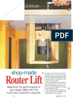 Router lift - Regulador de altura de fresadora