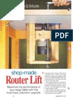 Router lift - Regulador de altura de fresadora