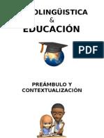 SOCIOLINGÜISTICA Y EDUCACIÓN