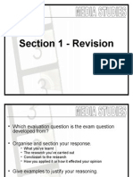 08 Media Studies - Section a Revision