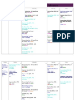 MDEMO Firm B Timetable