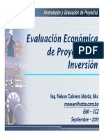 Evaluacion Economica de Proyectos de Inversion