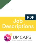 Job Descriptions 1st Semester '15-'16