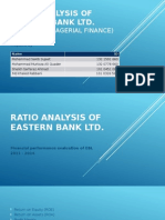 Ratio Analysis on EBL
