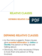Relative Clauses- Defining