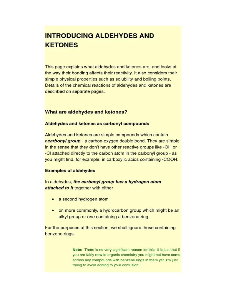 Introducing Aldehydes and Ketones | Intermolecular Force