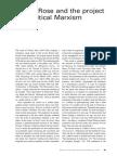 Rp105 Article3 Gillianroseprojectofacriticalmarxism Gorman