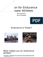 nutrition for endurance & power athletes