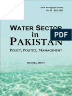 Water Sector in Pakistan - Policy Politics Management
