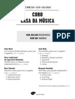 20140323 | Programa de Sala Coro Casa da Música | SONS DO HEMISFÉRIO SUL