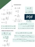 Fomula Sheet for Quiz-5