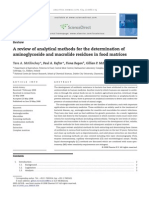 A Review of Analytical Methods for the Determination Of