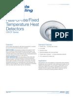 S85001-0367 -- Rate-Of-rise, Fixed Temperature Heat Detectors