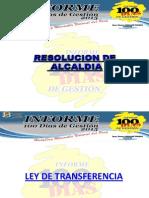 Informe 100 Dias Huayllay