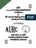 2015 Arkansas Undergraduate Research Conference Proceedings