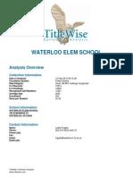 Waterloo School District Elem Collection Analysis Feb 2015