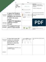 unit 9 science master vocabulary sheet