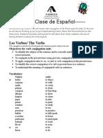 los verbos - 5th grade letter (2)