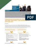 9 Claves Para Entender La Propuesta de Reforma Tributaria Del Gobierno de La Presidenta Michelle Bachelet