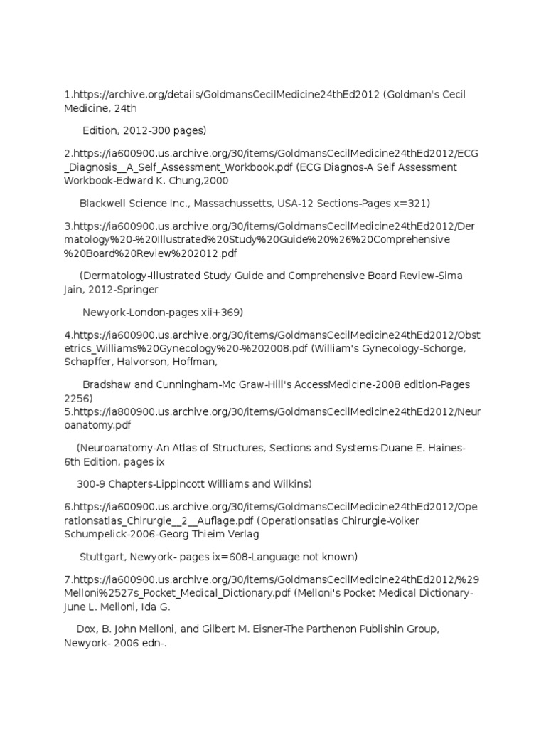 List of Medical Books | Medicine | Salud pública
