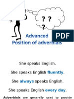 Position of Adverbials