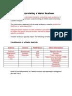 Interpretating a Water Analysis(1)