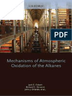 Mechanisms of Atmospheric Oxidation of the Alkanes - Calvert, Derwent, Orlando, Tyndall & Wallington