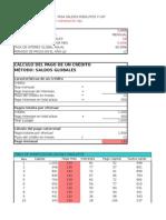 Tablas Saldos Insolutos en Excel