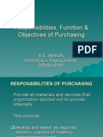 Responsibilities, Function & Objectives of Purchasing