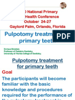 Pulpotomy Pediatric Prevention Diagnosis Treatment Planning