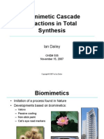 Biomimetic Cascade Reactions in Total Synthesis