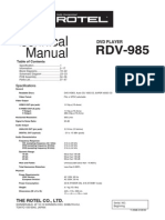 Rotel Rdv-985 Svcmnls