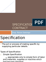 Contracts and Specifications