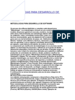 Metodologias Para Desarrollo de Software
