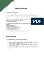 Memoria Descriptiva de Instalaciones en Edificaciones