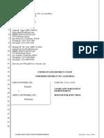 Cisco v. Arista, 4-14-cv-05343