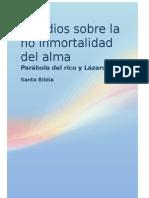 Estudios Acerca de La No Inmortalidad Del Alma