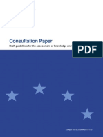 2015-753 Cp Mifid Guidelines on Knowledge and Competence