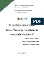 Rolul Jurnalistului in Campania Electorala